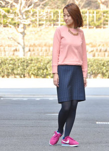 ピンクスニーカー (6)
