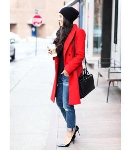 赤いコート (3)