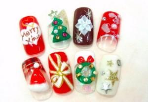 クリスマスネイル (2)