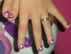 紫ネイルデザイン (1)