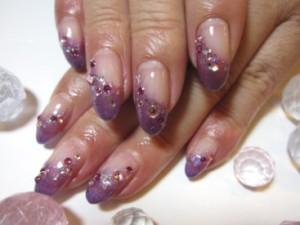 紫ネイルデザイン (100)