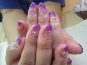 紫ネイルデザイン (102)