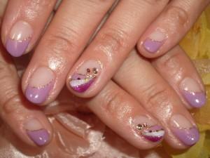 紫ネイルデザイン (103)