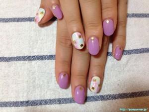 紫ネイルデザイン (109)