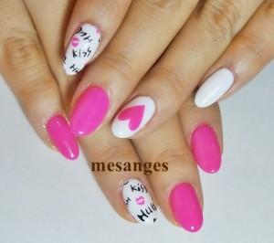 黒とピンクネイル (10)