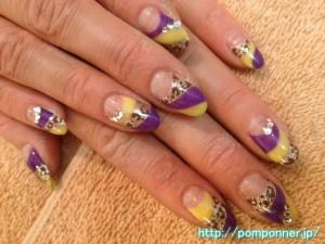 紫ネイルデザイン (107)