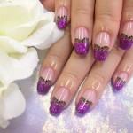 紫ネイルデザイン (111)