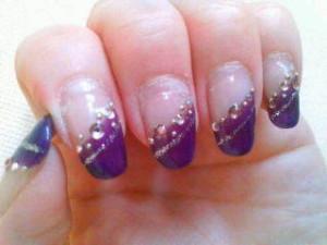 紫ネイルデザイン (112)