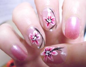 桜ネイル (1)