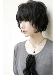 黒髪ショート (60)