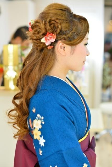 袴 髪型 卒業式 袴 髪型 編み込み ハーフアップ , 写真 20