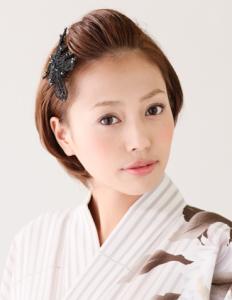 浴衣ショートヘアアレンジ (1)