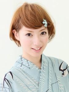 浴衣ショートヘアアレンジ (11)