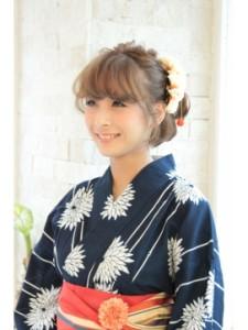 浴衣ショートヘアアレンジ (16)