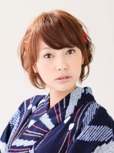浴衣ショートヘアアレンジ (23)