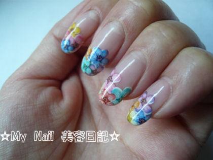 花シールネイル (2)