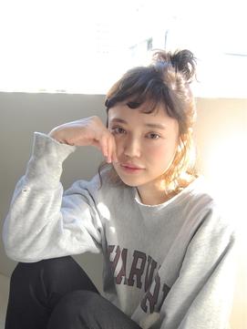 ショートボブお団子 (37)