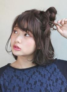 ショートボブお団子 (46)