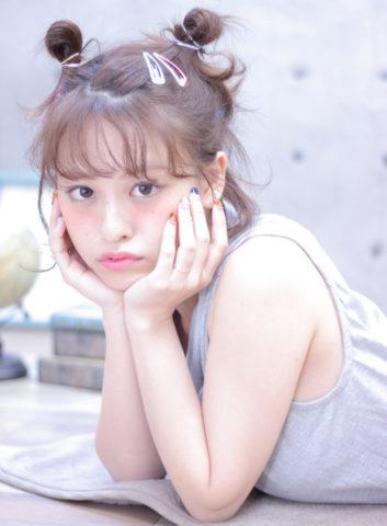 ショートボブお団子 (49)