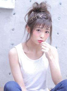 ショートボブお団子 (51)