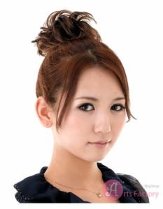 ショートボブお団子 (20)