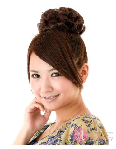 ショートボブお団子 (22)