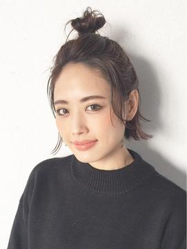 ショートボブお団子 (39)