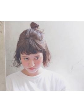 ショートボブお団子 (41)