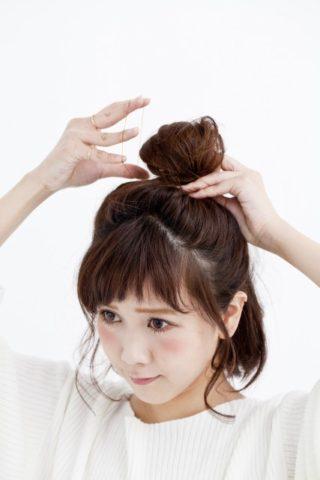 ショートボブお団子 (61)