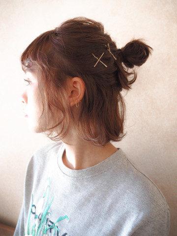 ショートボブお団子 (7)