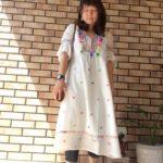 刺繍ワンピースコーデ (22)