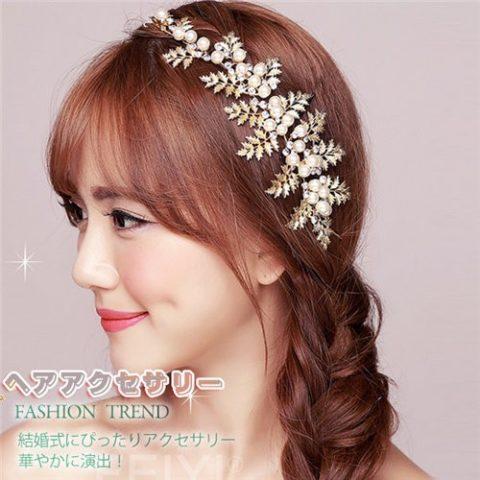 ウェディング髪飾り (11)