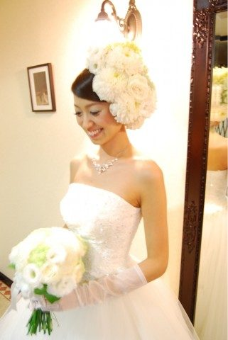 ウェディング髪飾り (9)