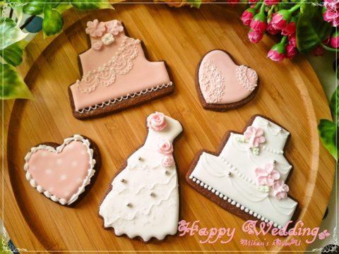 ウェディングアイシングクッキー (9)