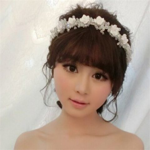 ウェディング髪飾り (10)