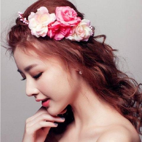 ウェディング髪飾り (4)